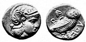 Sophytes - Image: Attic drachm Athena type Middle East 4th century BCE