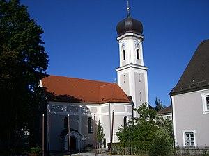 Au in der Hallertau - Church and market place