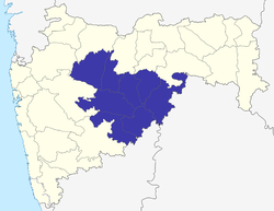 Location of Marathwada in Maharashtra