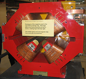 Strong focusing - Quadrupole electromagnet from the storage ring of the Australian Synchrotron serves much the same purpose as the sextupole magnets