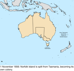 Map of British claims to Australia; for details, refer to adjacent text