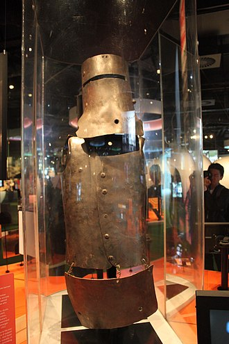 Cultural depictions of Ned Kelly - A replica of Ned Kelly's armour, designed for the 2003 film Ned Kelly starring Heath Ledger and now in the collection of the Australian Centre for the Moving Image