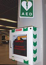 Automated External Defibrillator Amsterdam airport.jpg