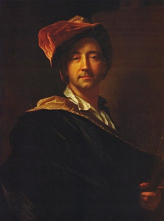 Hyacinthe Rigaud - Self-portrait in a turban, 1698, Perpignan, Musée Hyacinthe Rigaud.