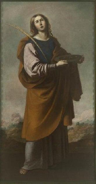 Bernabé de Ayala - Saint Lucia by Bernabé de Ayala, Museum of Fine Arts of Seville