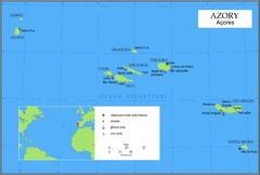 Mapa Azorów