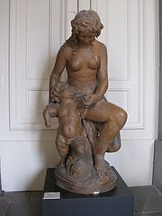 Bacchant Playing with a Faun