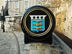 Board of Ordnance - Shield of the Board of Ordnance preserved on a gun tampion in Gibraltar