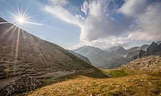 Mercantour National Park - Image: Baisse des Cinq Lacs, Mercantour