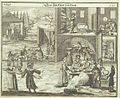 Baking matzeh and cleaning chametz , 1724, from Juedisches Ceremoniel.jpg