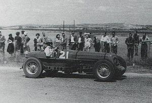 1950 Australian Grand Prix - Jim Gullan won the handicap award driving a Ballot Special.