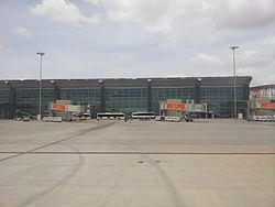 Bangalore Airport runway and surrounding area 09June2012 120336.jpg