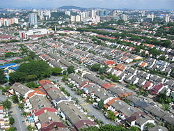 A view of Bangsar, with the Terasek houses of Bangsar Baru in the foreground.
