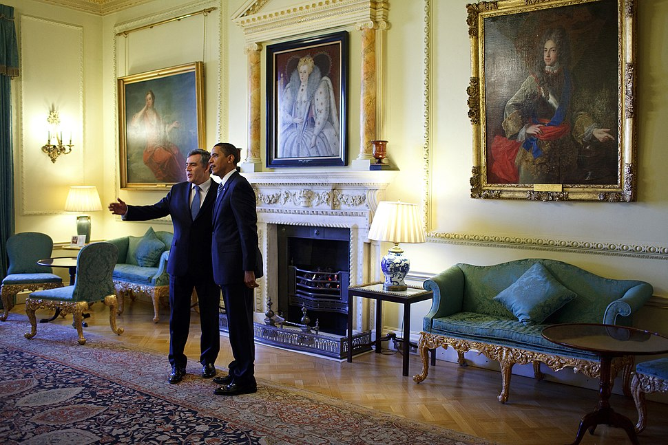 Barack Obama and Gordon Brown in 10 Downing Street