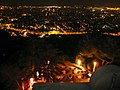 Barcelona at night from Fabra Observatory's Restaurant - panoramio.jpg