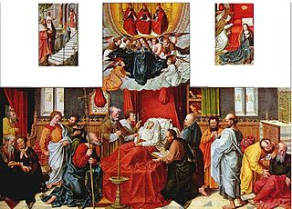 Polyptych with Death of the Virgin