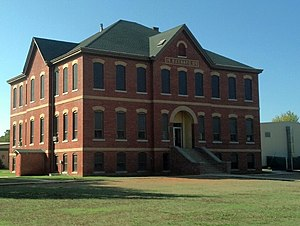 National Register of Historic Places listings in Pottawatomie County, Oklahoma - Image: Barnard Elementary School 2012 10 27 11 19 39