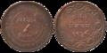 Baroda - Two Paisa - Sayaji Rao III Gaekwad - 1948 BS Copper - Kolkata 2016-06-28 5223-5224.png