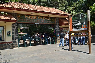 Barranca del Cupatitzio National Park - Main entrance to the park