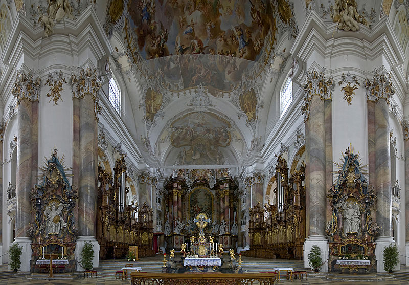 File: Basilica Ottobeuren - View of the choir room and the Hochaltar.jpg