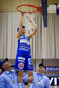 Basketball match Catz vs. Peli-Karhut on 27 April 2018 56.jpg