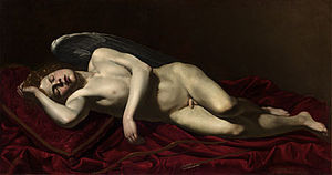 Battistello Caracciolo - Image: Battistello Cupid Sleeping