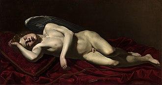 Battistello Caracciolo - Image: Battistello Cupid Sleeping