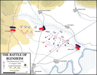 Battle of Blenheim - Penetration, 1730, 13 August 1704.png