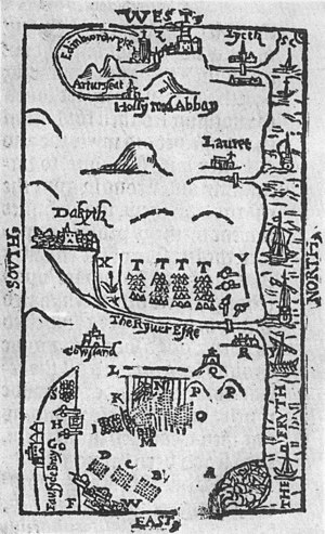 Scotland in the early modern period - A contemporaneous wood cut of the Battle of Pinkie Cleugh