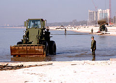 Biloxi beach after cleanup
