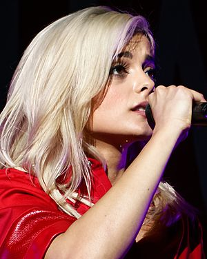 Bebe Rexha - Rexha performing live at Staples Center in Los Angeles, California on April 8, 2016.