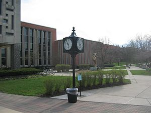 Ohio Wesleyan University Library - Image: Beeghly Jay Walk 1