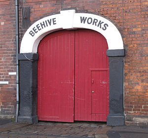 Beehive Works - The entrance to the courtyard on Milton Street.