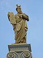 Beeld Mozes met de wetstafels op de Civiele Griffie, Burg 11 2, Brugge.JPG