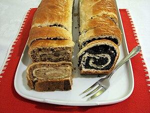 Bejgli (sometimes beigli), a Hungarian pastry,...