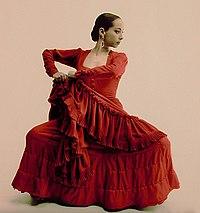 رقصندهء فلامنكو Belén Maya, عكس توسط Gilles Larrain در استودیویش گرفته شده, 2001