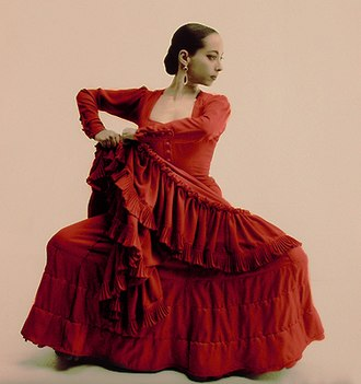Flamenco - Flamenco dancer with traditional dress