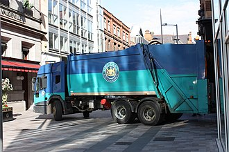 Belfast City Council - Waste collection vehicle, Arthur Street, Belfast, October 2009