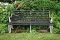 Bench on southern terrace, Easton Lodge Gardens, Little Easton, Essex, England 2.jpg