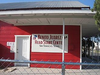 San Ygnacio, Texas - The Benito Juárez Head Start Center in the community's historic district