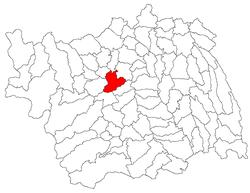 Vị trí của Beresti-Tazlau