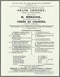 <i>Roméo et Juliette</i> (Berlioz) 1839 choral symphony by Hector Berlioz