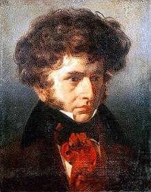 Porträt des jungen Berlioz von Émile Signol, 1832, wenige Jahre nach der Arbeit an der Symphonie fantastique (Quelle: Wikimedia)