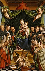 Madonna and Child Enthroned with Saints and Donors