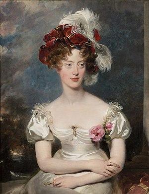 Marie-Caroline de Bourbon-Sicile, duchesse de Berry - Portrait by Thomas Lawrence, 1825