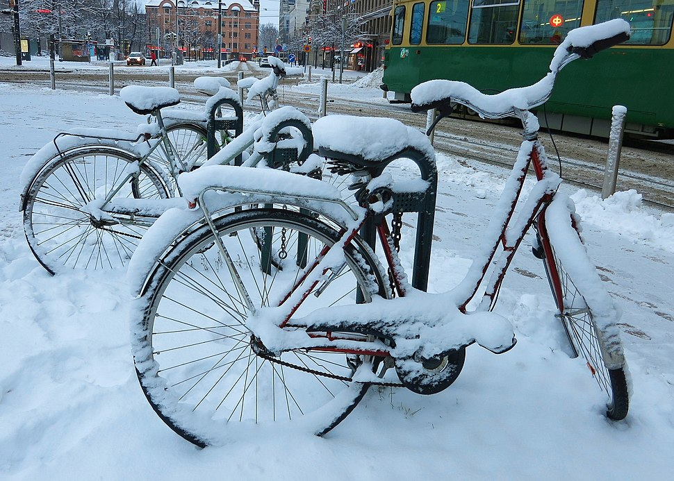 Bicycles and winter