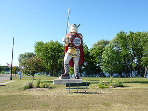 Alexandria, Minnesota - Statue of Big Ole the Viking, greeting visitors to Alexandria