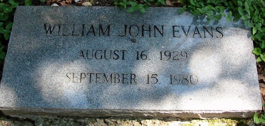 Bill Evans's tombstone