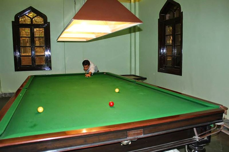 File:Billiards table, is the attraction.jpg