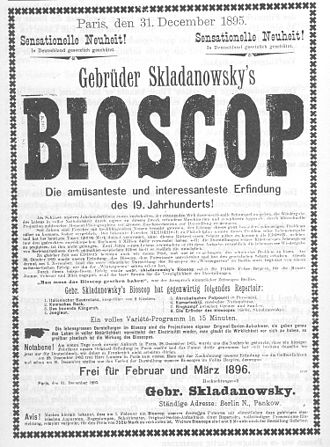 Max Skladanowsky - 1895 poster for Bioscop screenings